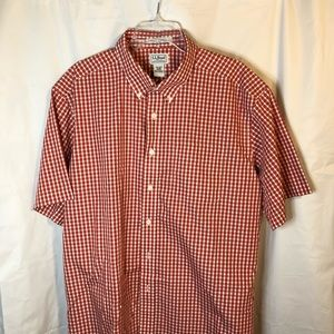L.L. Bean Wrinkle Resistant Short Sleeve Shirt XL